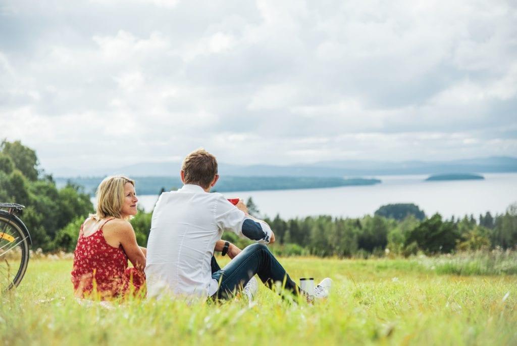Utsikt över Siljan i Tällberg